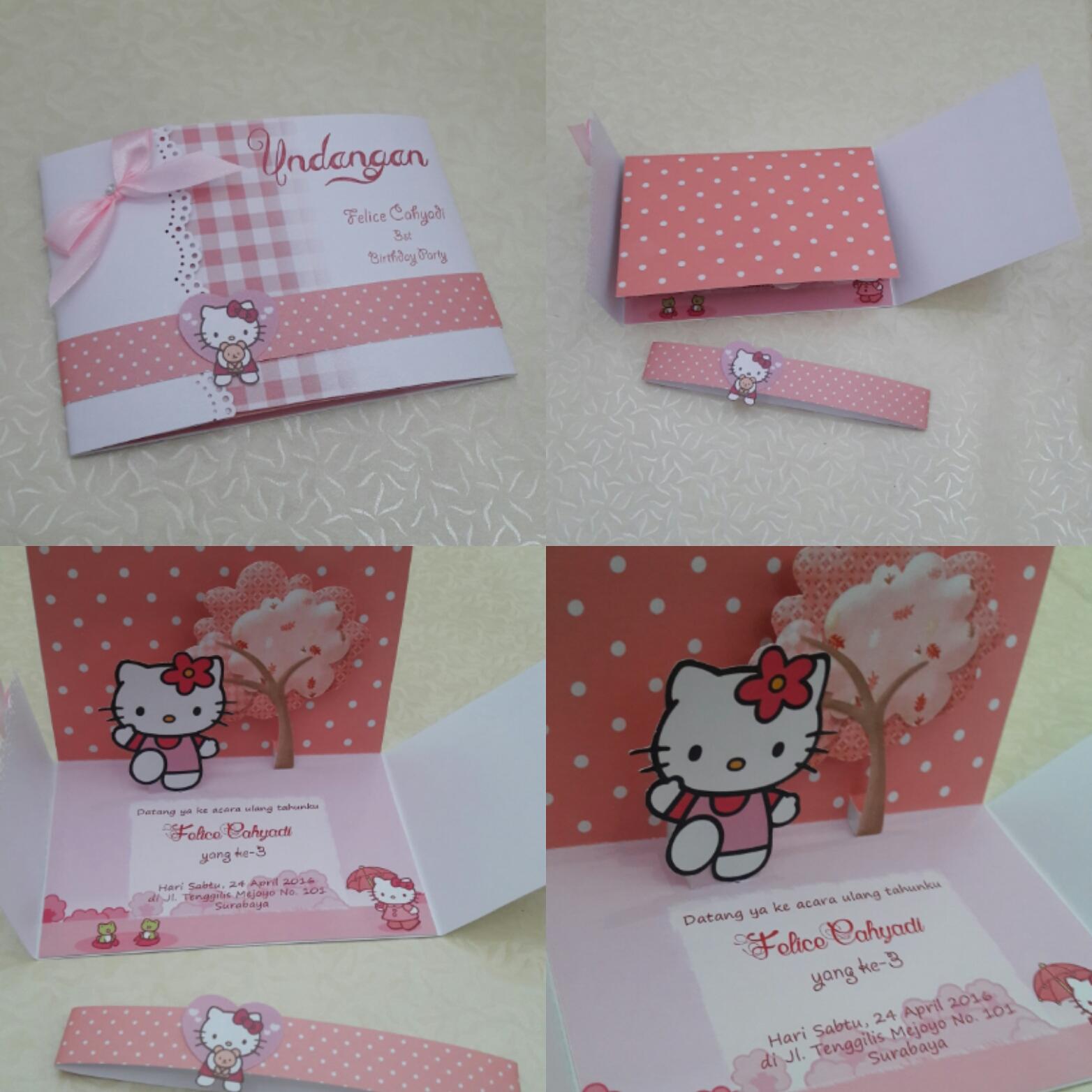 Undangan Pernikahan Hello Kitty Contoh Undangan Pernikahan
