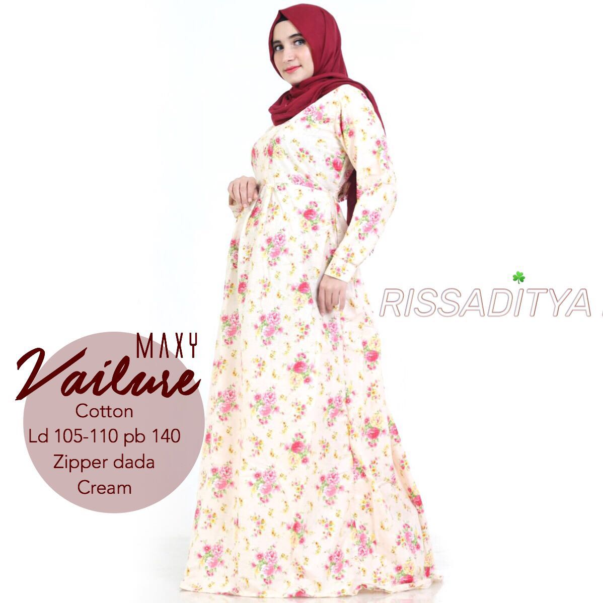 SUPPLIER HIJAB : VAILURE MAXY BY RISSADITYA / KATUN FLOWER