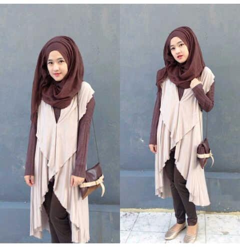 cvo_yoshila creamcokelat / setelan hijab