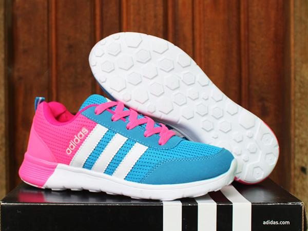 Jual Sepatu Running Adidas Climacool New Women Biru Pink