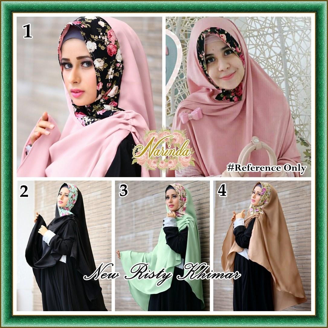 jilbab hijab kerudung KHIMAR RISTY FLOWER
