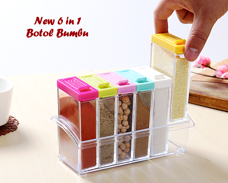 Jual New 6 In 1 Tempat Bu Set Isi Botol Holder Dapur Paffie Tokopedia