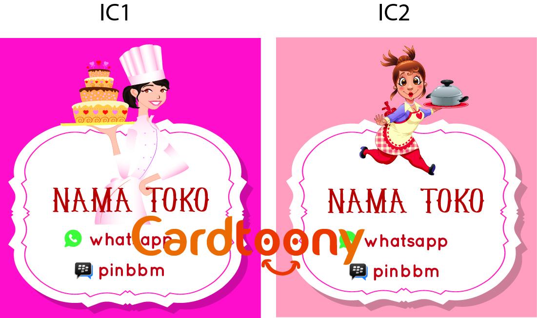 Jual Sticker / stiker label nama toko kemasan produk ...
