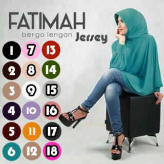 bergo fatimah jersey /kerudung/hijab/pasmina/syari
