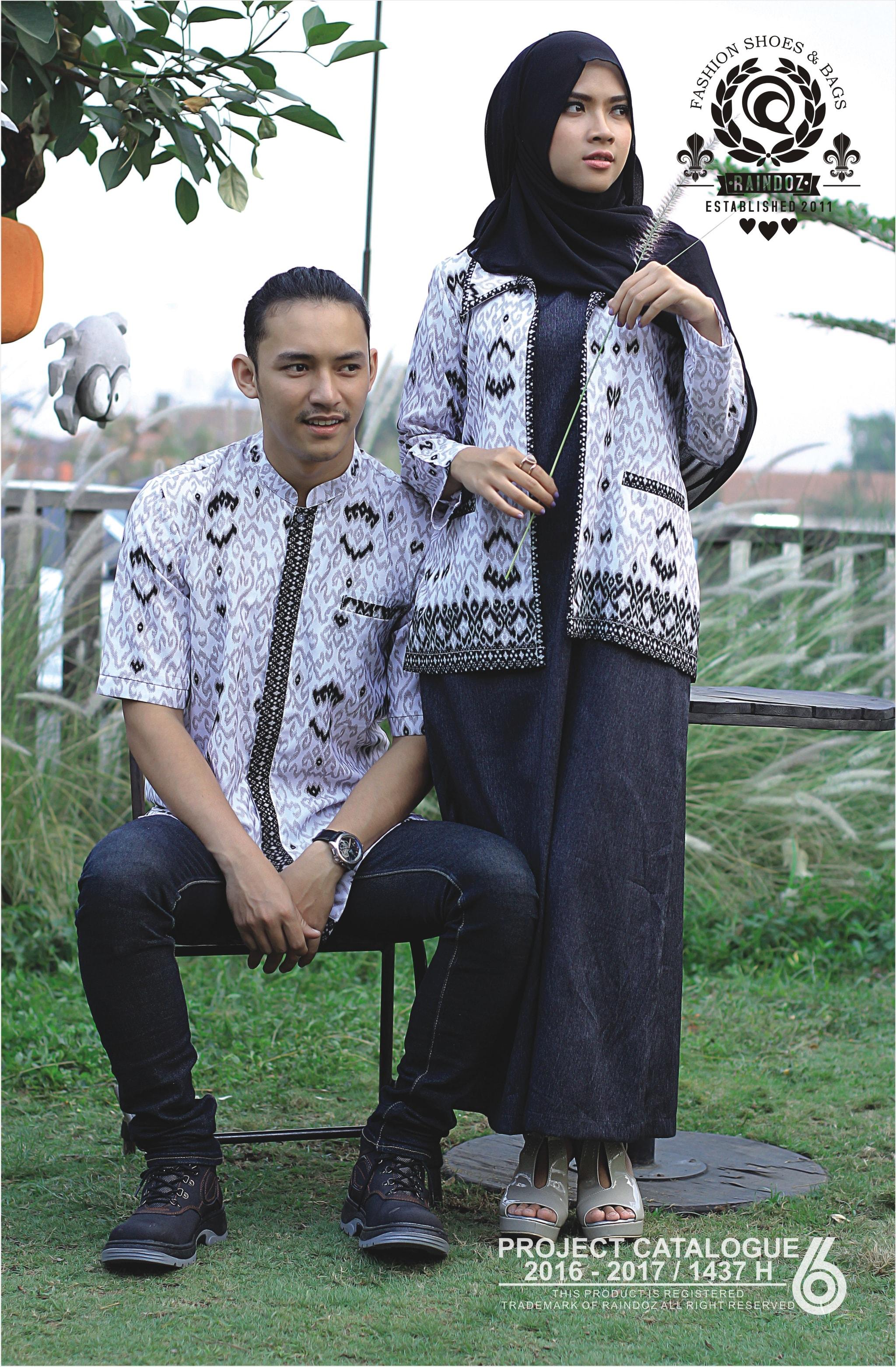 Baju Batik Gamis Sarimbit Keluarga Keluarga Model