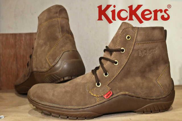 Jual Sepatu Boots Pria Kickers Premium ( Kulit Suede ) Murah