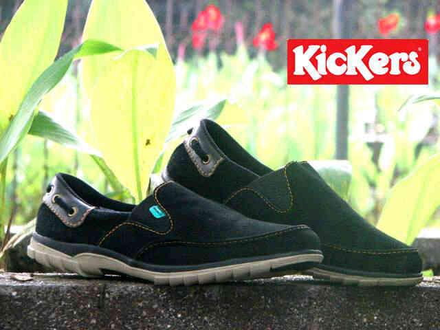 Jual Sepatu Pria Kickers Slip On Premium 2 - ( Kulit Suede ) Murah