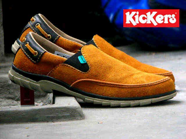 Jual Sepatu Pria Kickers Slip On Premium - ( Kulit Suede ) Murah