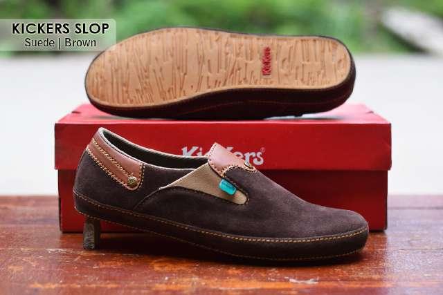 Jual Sepatu Pria Kickers Casual Premium 5 - ( Kulit Suede ) Murah