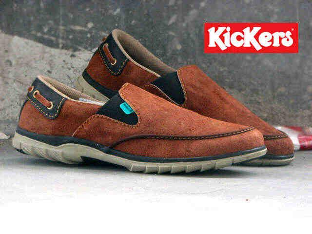 Jual Sepatu Pria Kickers Slip On Premium 1 - ( Kulit Suede ) Murah