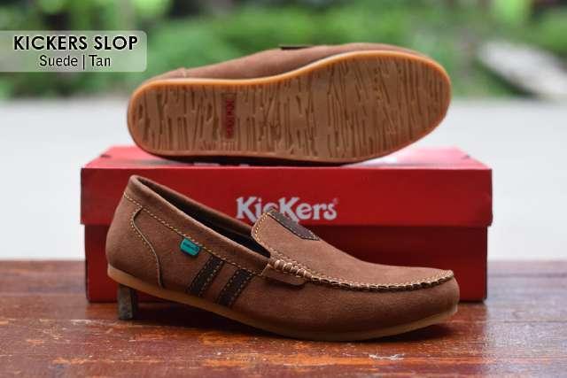 Jual Sepatu Pria Kickers Casual Premium 7 - ( Kulit Suede ) Murah