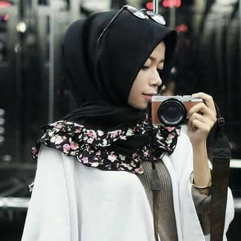 Jilbab hijab segi empat / segi 4 rempel motif square