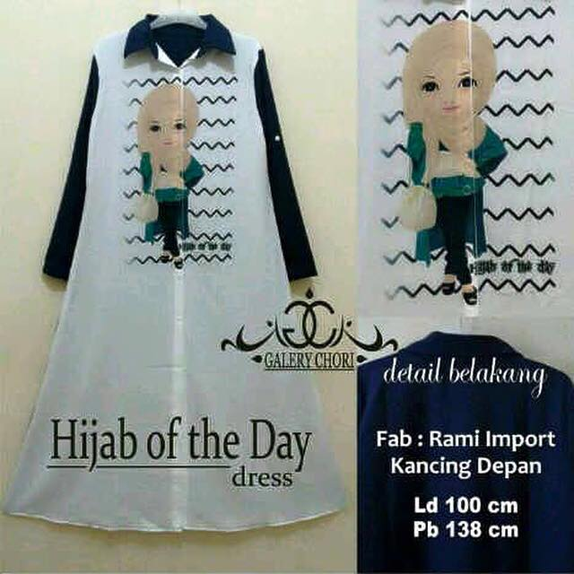 Hijab of the day dres / hijab kekinian / baju panjang / baju muslim