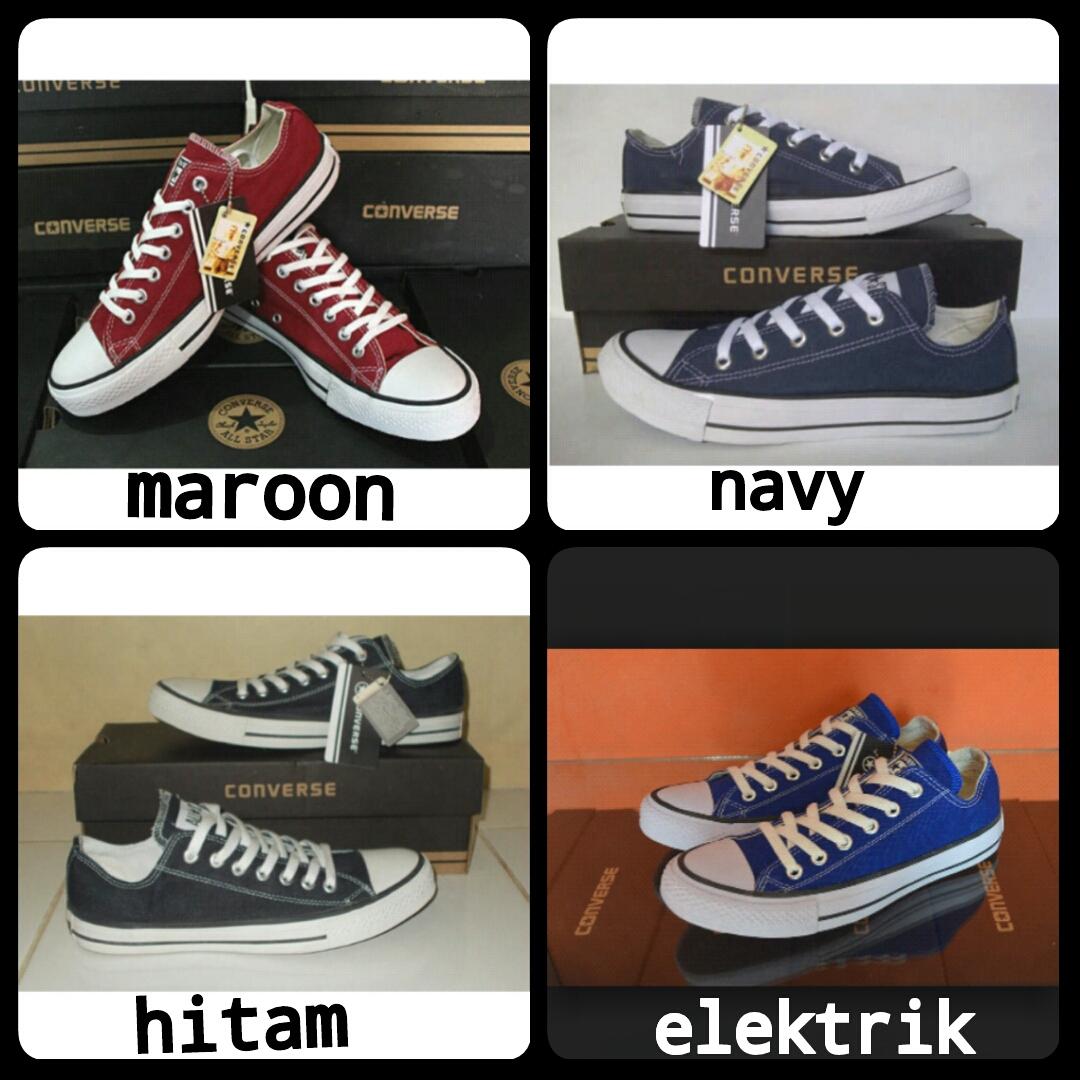 Jual Sepatu Converse All Star Low Grade ORI SIze 36 37 38 39 40 41 ... 9ec9908387