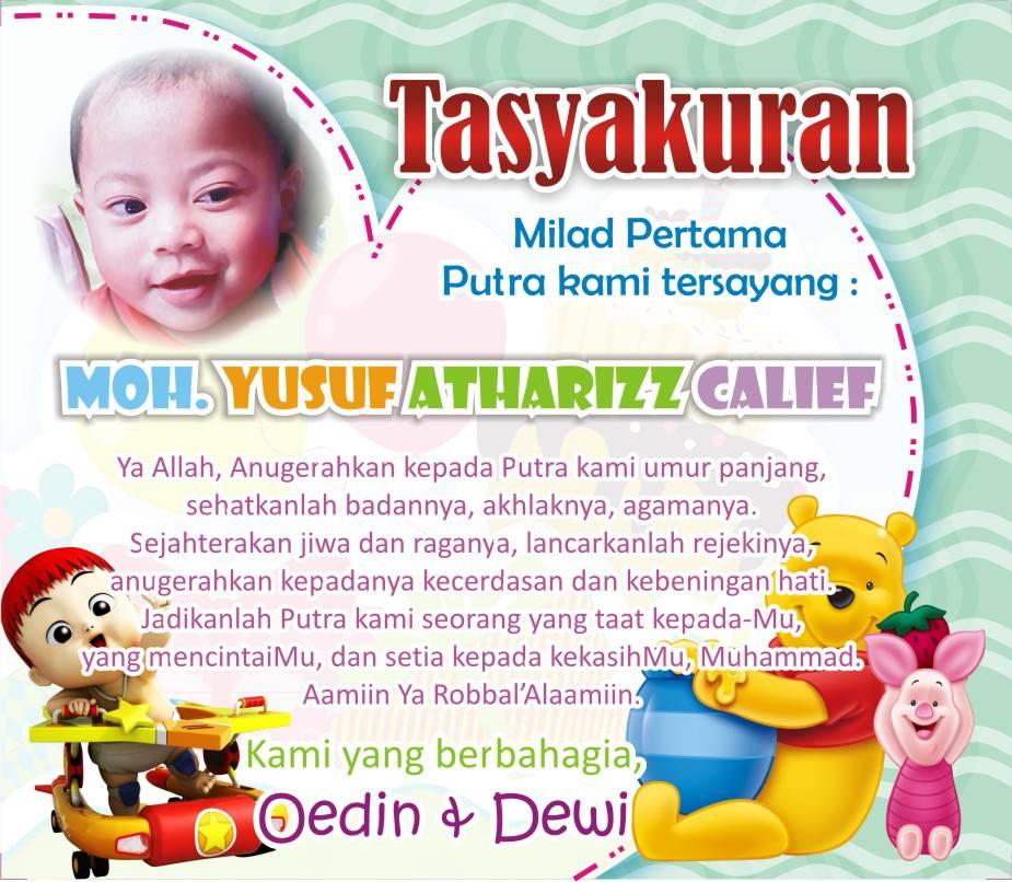Jual kartu peringatan / undangan ultah / tasyakuran anak ...