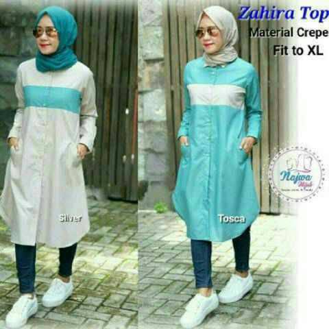 Zahira Top / Tunik / blus murah / hijab gaya baru / grosir baju