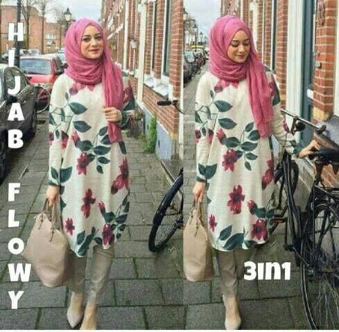 Hijab flowy 3in1