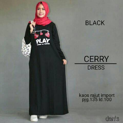 Baju Hijab Murah Cherry Dres