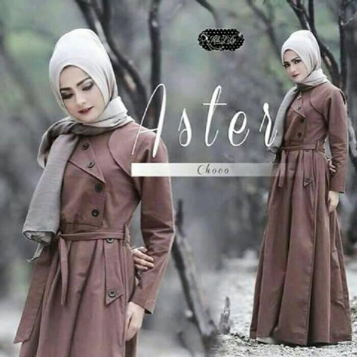 Aster Choco / Coat / dress / hijab model baru / baju muslim / grosir