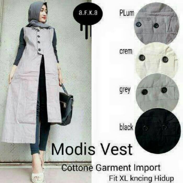 Modis Vest / jaket cewek / cardigan / outer murah / grosir hijab
