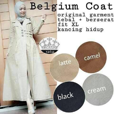 Baju Hijab Murah Belgium Coat
