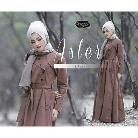 Baju Hijab Murah Aster Coat