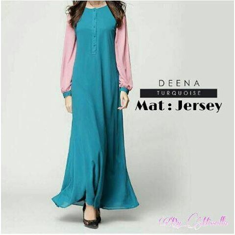 Baju Hijab Murah Deena Maxy Dress Turkis