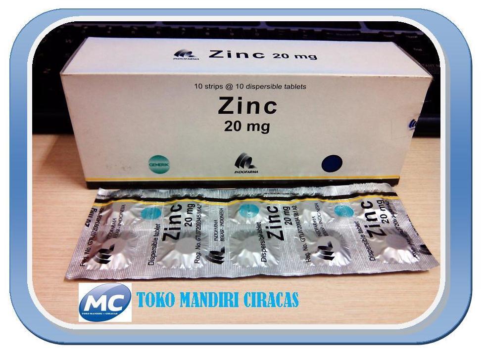 Jual Zinc 20 Mg Tablet Pendamping Pengobatan Diare Anak Toko