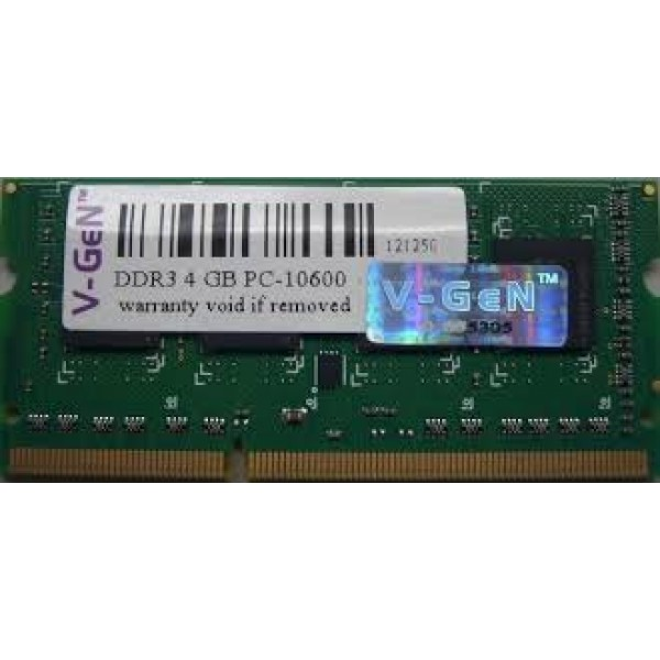V Gen Memory Ram Notebook Ddr3l Pc12800 Sodimm 4gb Vgen Low Voltage Source · Jual V Gen Memory Notebook DDR3 4GB PC 10600