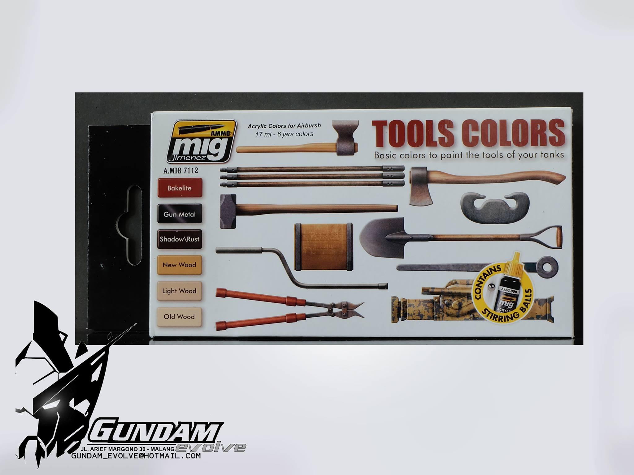 MIG Acrylic Set (6x17ml) : Tools Colors