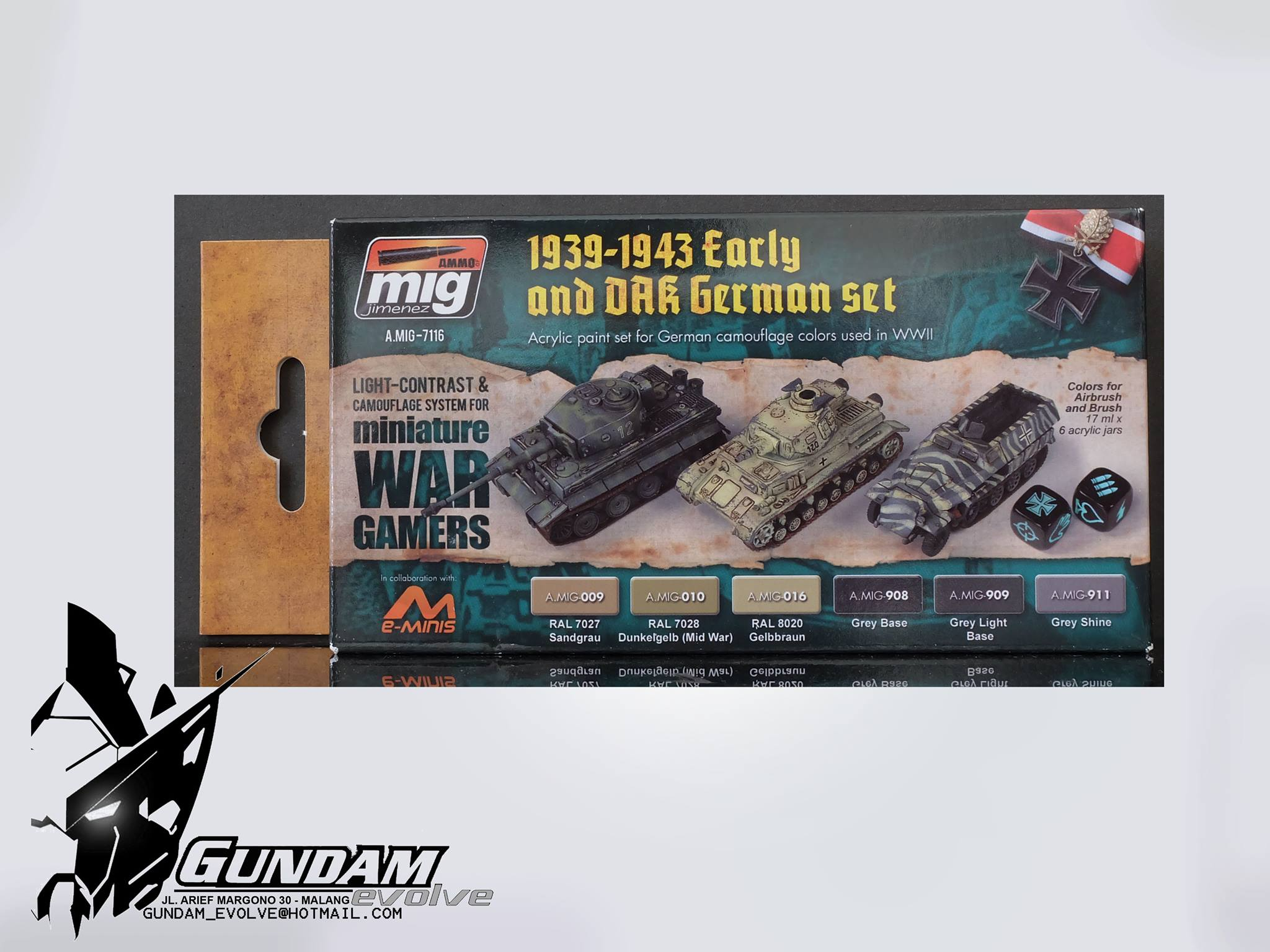 MIG Acrylic Set (6x17ml) : Wargame Early And DAK German Set