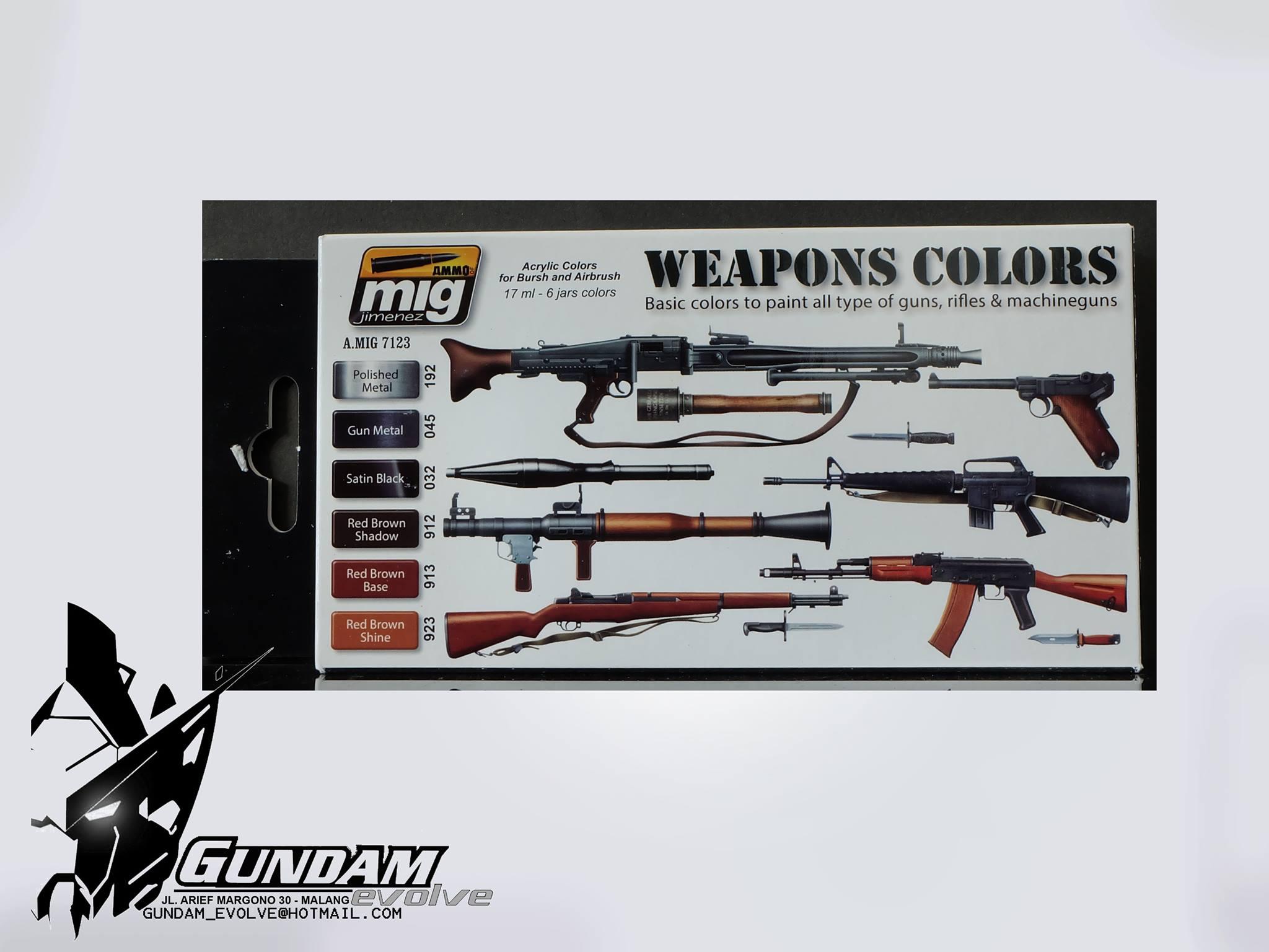 MIG Acrylic Set (6x17ml) : Weapons Colors