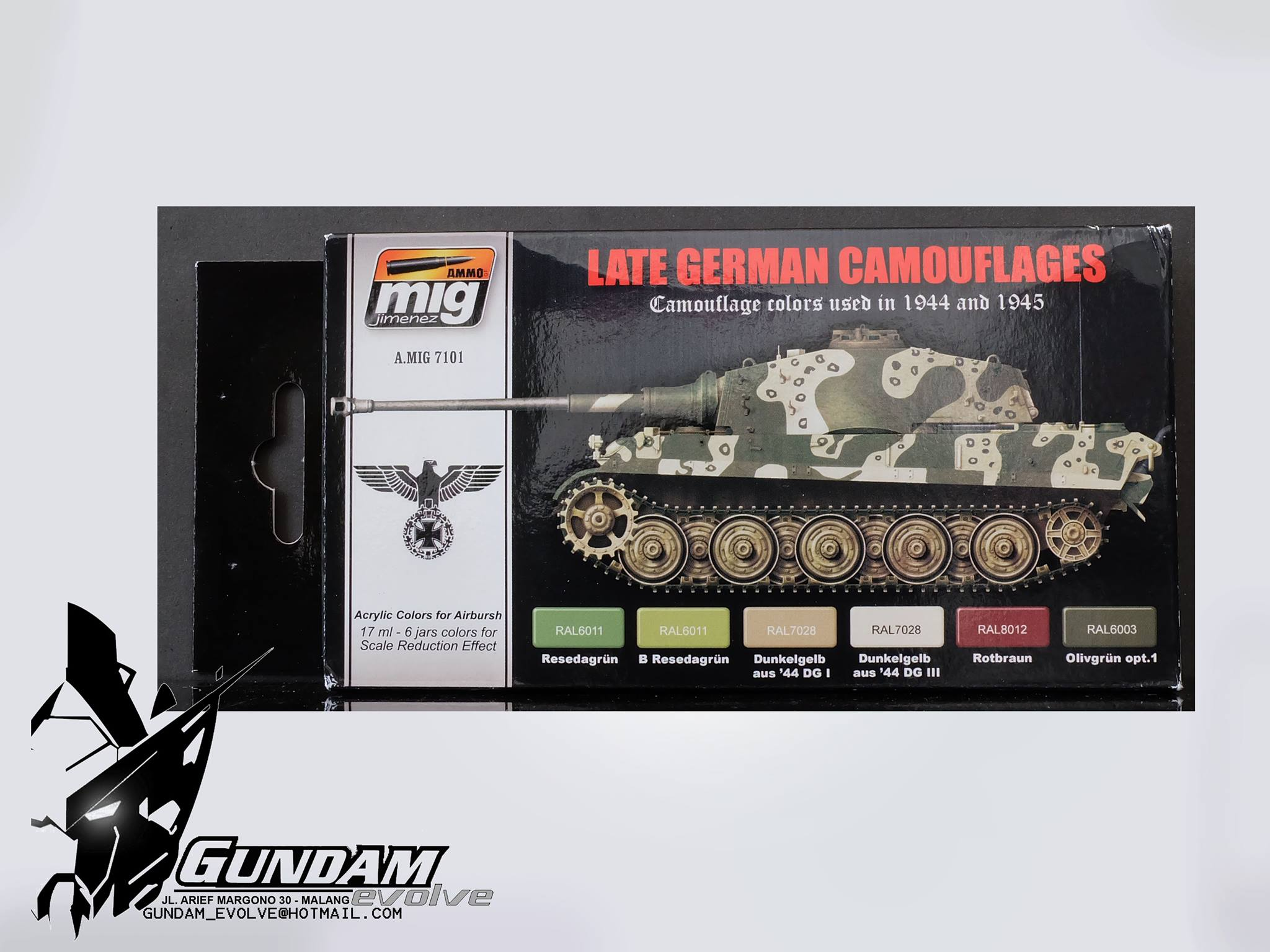 MIG Acrylic Set (6x17ml) : Late War German Colors