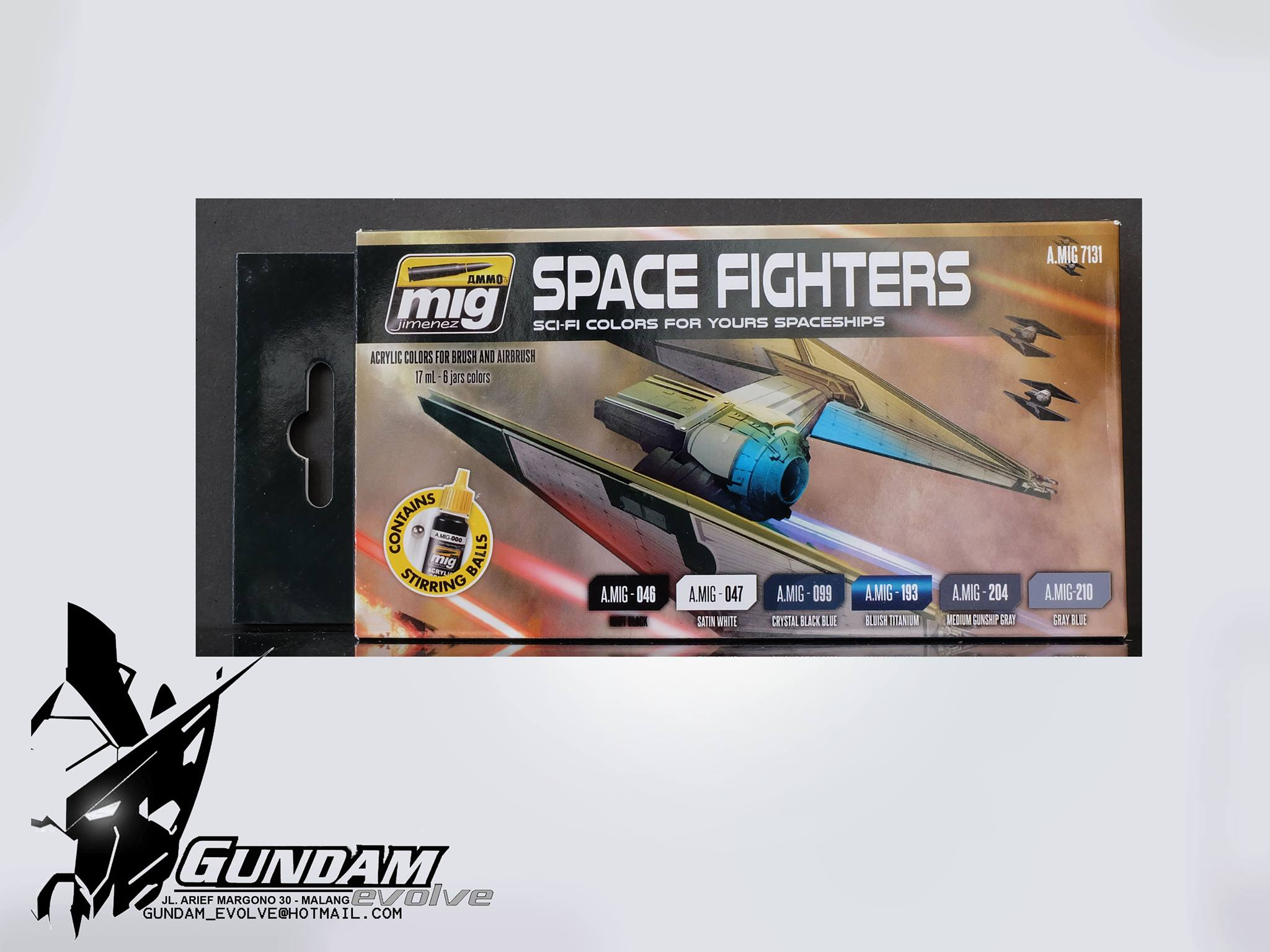 MIG Acrylic Set (6x17ml) : Space Fighters Sci-fi Colors