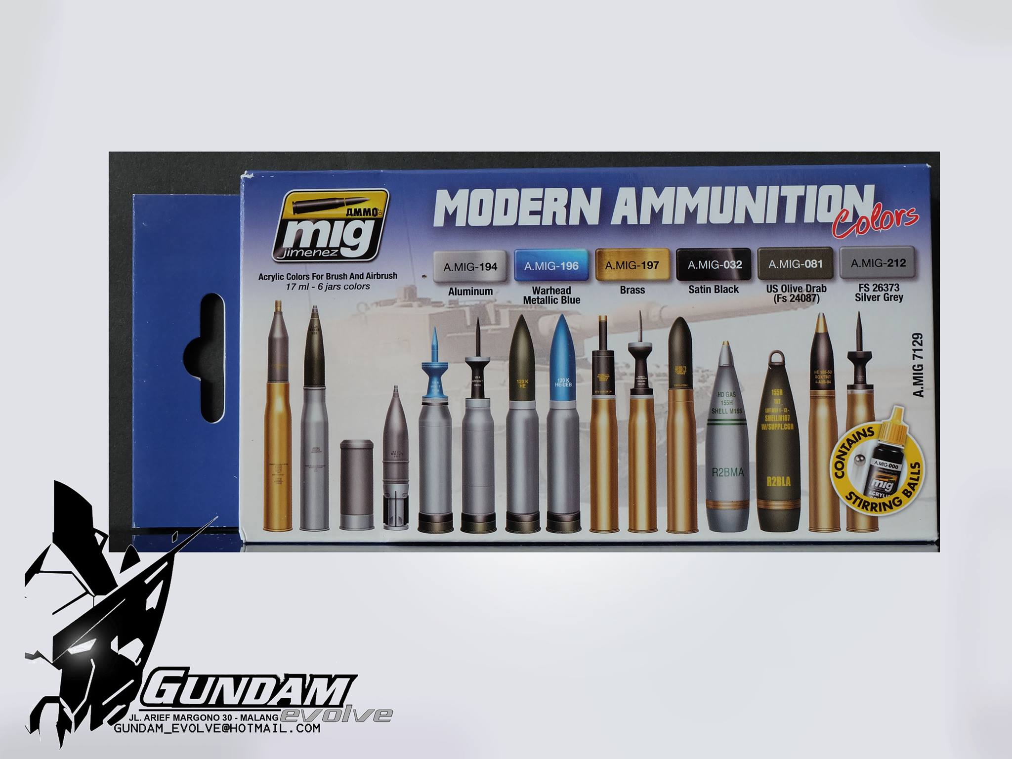MIG Acrylic Set (6x17ml) : Modern Ammunition