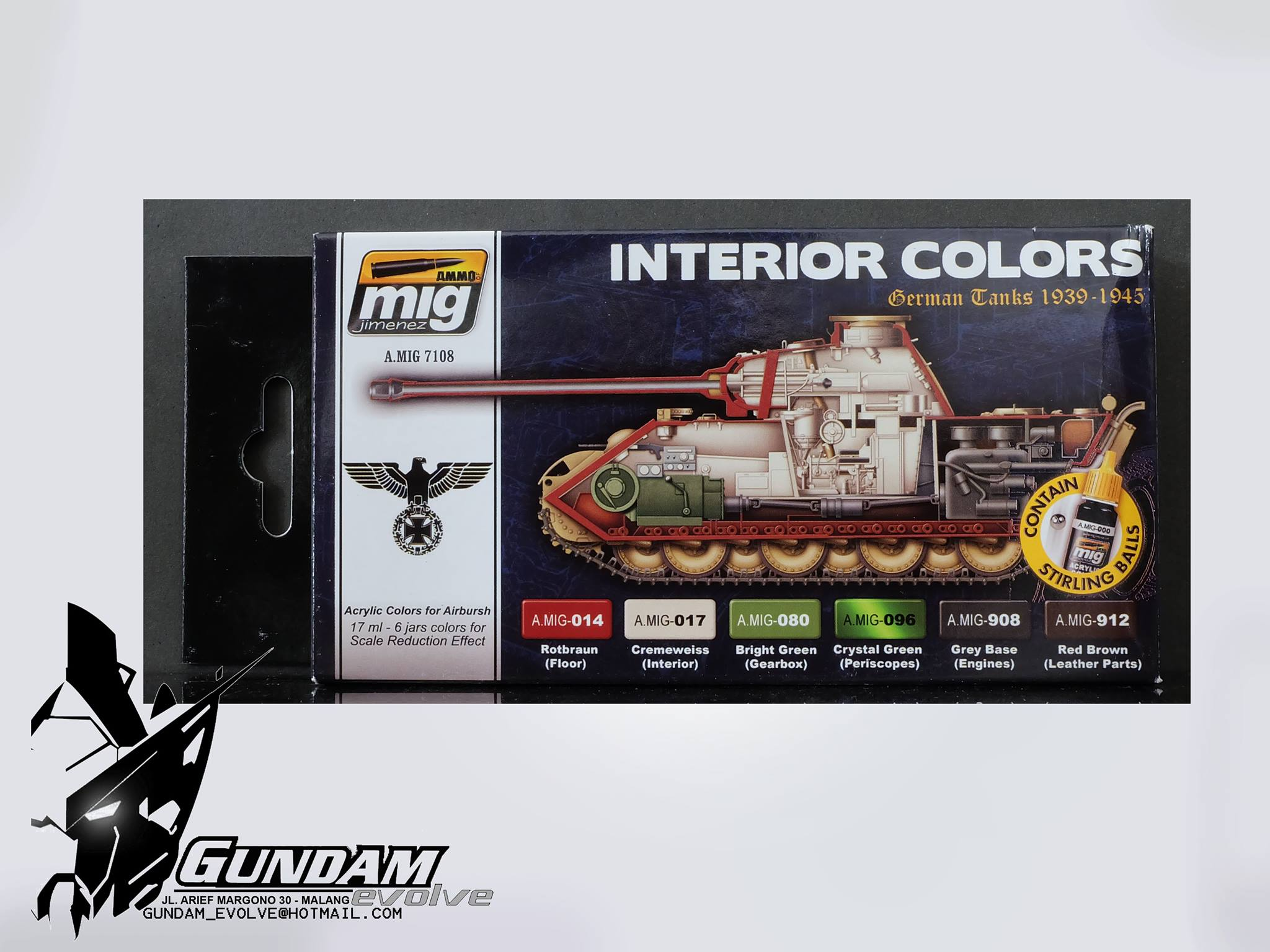 MIG Acrylic Set (6x17ml) : Interior Colors (German Tanks)