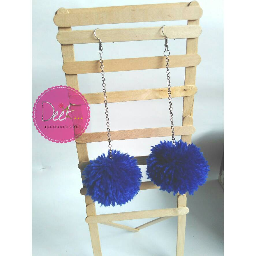 Pompom earrings | Anting Pompom | Anting hijab