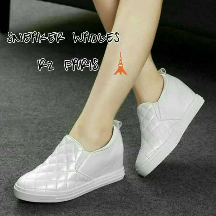 Jual sepatu kets  wanita wedges sneakers putih casual - Mega  Shop ... ac7e905a58