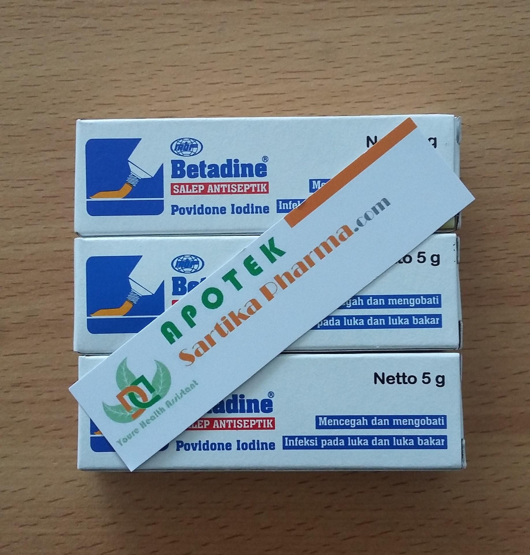 Jual Betadine Salep Antiseptik 5 Gram Teras Medis Tokopedia Kotak P3k Veta Mobil