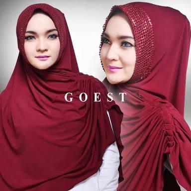 khimar / bergo / hijab / jilbab syari yola sequin
