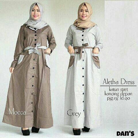 Baju Hijab New Aletha Tunik