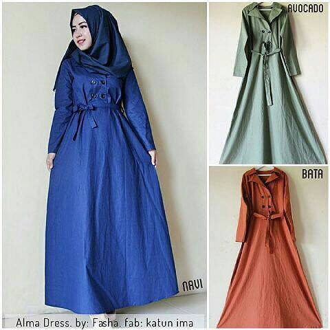 Baju Hijab Murah Alma Dress