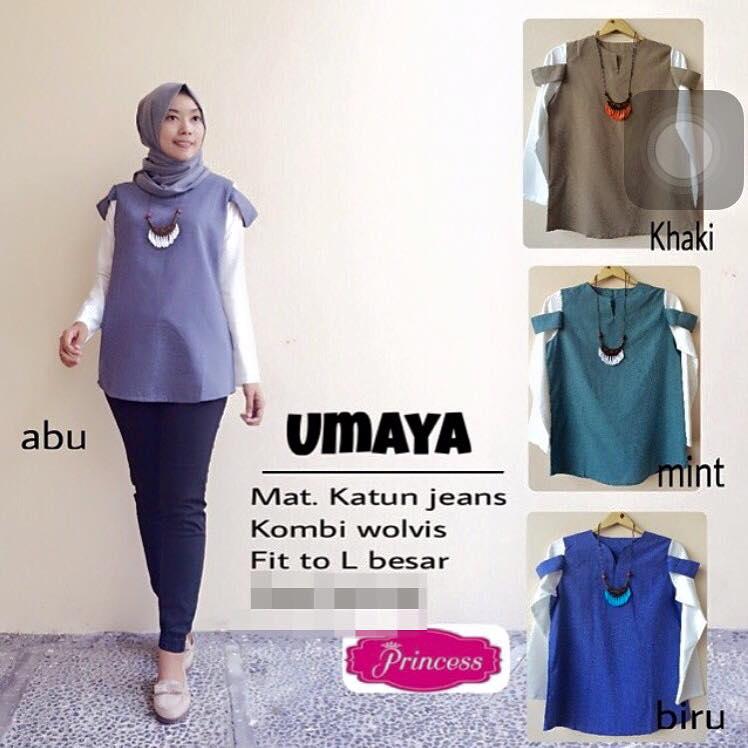 Umaya top / blouse / atasan / baju lengan panjang / hijab murah