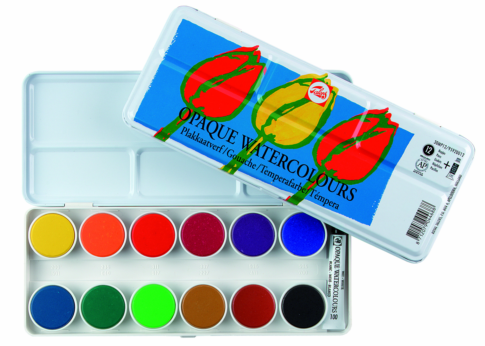TALENS OPAQUE WATERCOLOURS SET 12