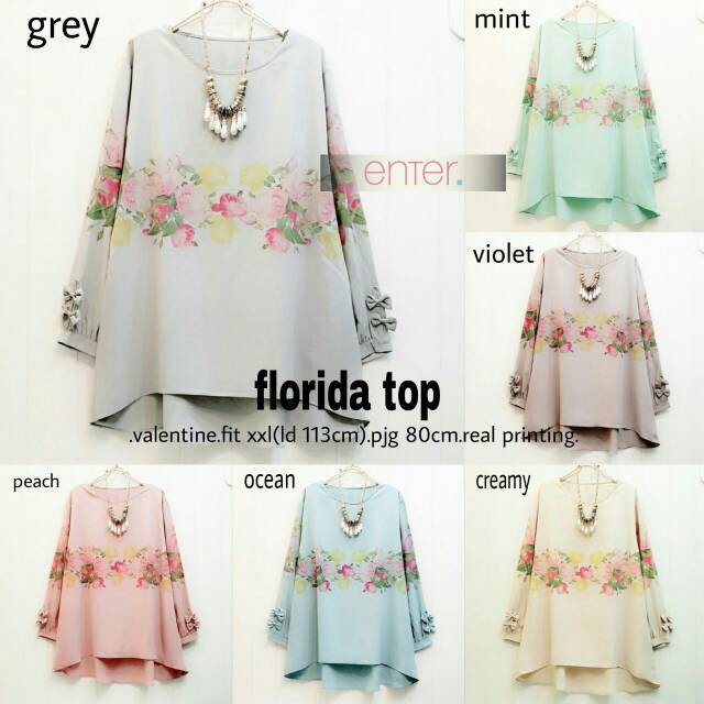 SUPPLIER HIJAB : FLORIDA TOP BY ENTER