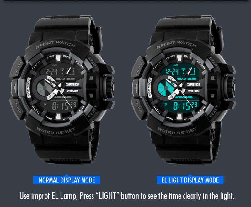 SKMEI Sport Watch 1117 Original Water Resistant 50M - Black