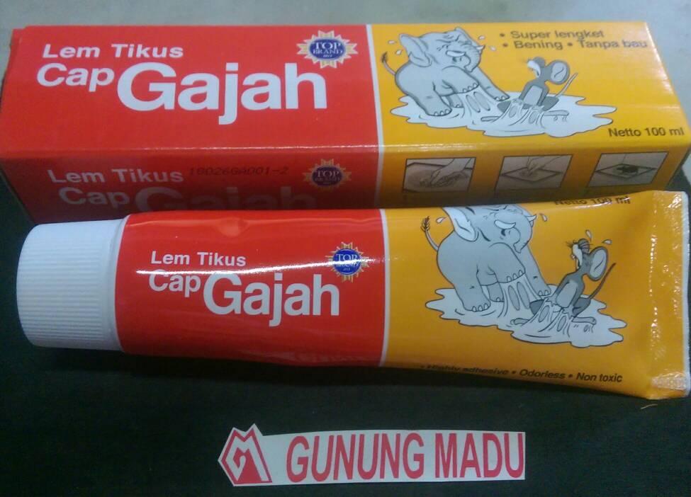 Lem Perekat Tikus Cap Gajah Tube 100 Ml / Perangkap Tikus