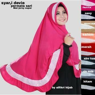 Bergo Syar'i Devie / Hijab / Jilbab / Kerudung