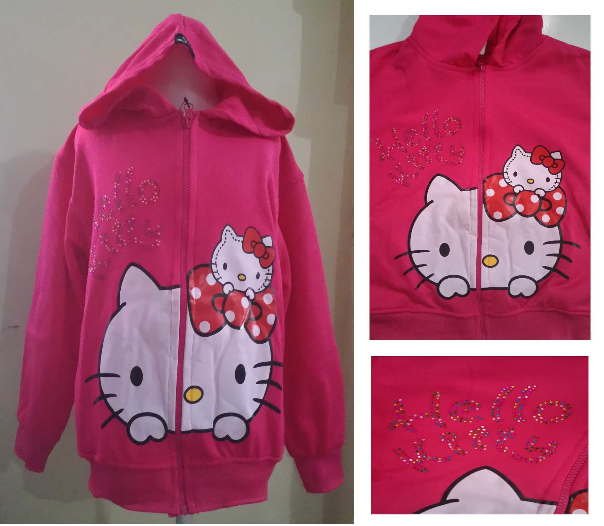 JKKD86 - Jaket Anak Hello Kitty Motek Pinkfanta