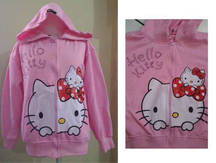 JKKD85 - Jaket Hello Kitty Motek Babypink